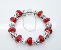 B27Factory price 925 sterling silver charm bracelet for woman.fashion bracelet.silver jewelry.