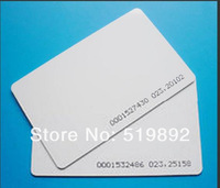 RFID Proximity 125Khz EM ID Smart card wit EM4100 chip 100pcs/lot PVC Material card use for access control and time attendance