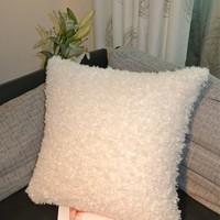 Sheep white orange modern fashion american elegant fabric cushion pillow cover