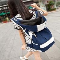 travel school girl lady femal women bag with hat