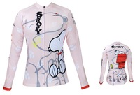 Hot Sale! 2014 New Summer Women Cycling Bike Bicycle Long Sleeve Jersey Jerseys  Wear - Snoopy  XS~XXXL