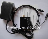 Wholesales 3pcs x Digital Optical Fiber Toslink SPDIF Coaxial to RCA R/L Analog audio Converter Fiber Optical cable