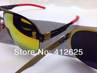 quality  men and women shall tide fashion retro myopia Frame Sunglasses driving mirror sunglasses brand shades