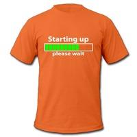 Мужская футболка Boy's Teeshirt Regular Starting up please wait geek Printed T for Boys Fashion