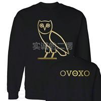 Free shipping Ovoxo drake rap hiphop fashion o-neck hoodie sweatshirt