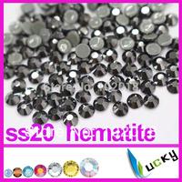1440pcs! Hot sale highest quality HOT FIX DMC rhinestones Copy swarov 2038 ss20/5mm jet hematite Color Strass crystal Beads
