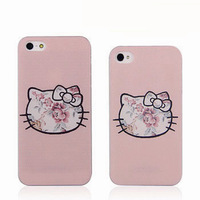 Hot Selling Cute Hello Kitty Flower hard case for iphone 4/4S 5/5s 5c design proctective cover for  iPhone