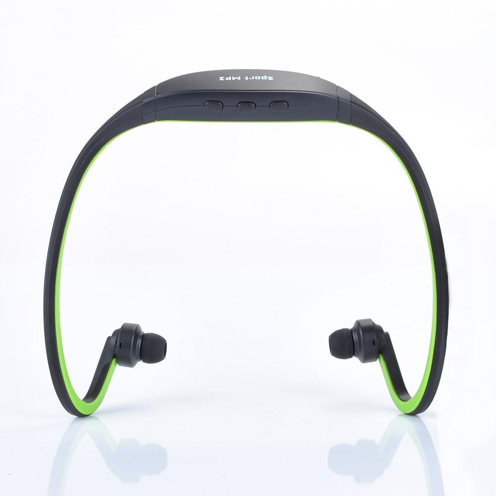 MP3 Music Player Sport Headphones Wireless Handsfree Headset Earphones Portable FM Radio Micro TF SD Slot up to 8GB New 2014(China (Mainland))