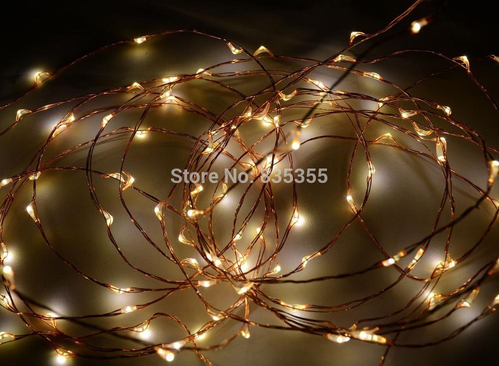 Outdoor Star Lights 20Ft 6M 120 LED Warm White LED on
