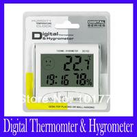 """Free shipping DC102 Mini 3"""" LCD Digital Thermometer Hygrometer ,5pcs/lot"""