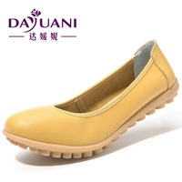 High quality new women single shoes genuine leather casual office work shoes female spring flat nurse shoes ballet flats 1877