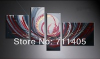 3 Size Free shipping/hand-painted   abstract oil painting on canvas 4pcs/A-401