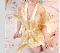 free shipping /New style women and lady's sleepwear/1set for 2 pcs silk embroidery pajamas 507