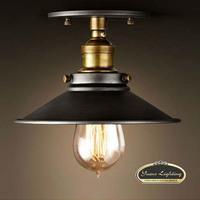 2014 New Vintage LOFT American Black Metal Shade Ceiling Light Lampe Fixture 120V 220V 40W,Free Shipping