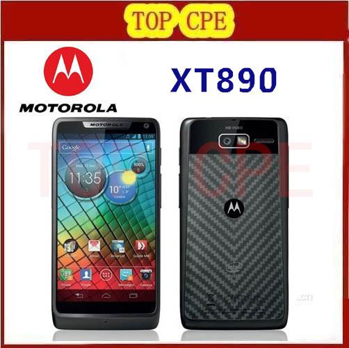 "Original XT890 Motorola Mobile Phone 4.3"" Screen Android 4.0 ROM 8GB Camera 8MP NFC Bluetooth 4.0 GPS 3G Unlocked Refurbished(China (Mainland))"