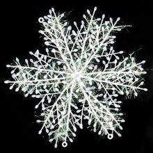envío gratis f85 60pcs/lot navidad copo de nieve adornos colgantes para ventanas decoración 10cm(China (Mainland))