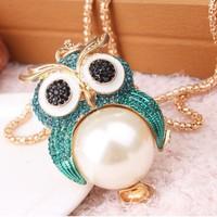 Hot sale jewelry fashion unique rhinestones temperament imitation-pearls women necklace X5236