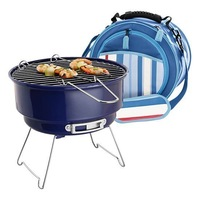 Mini high temperature BBQ grill enamel , cooler bag furnace ice pack furnace camping stove bbq