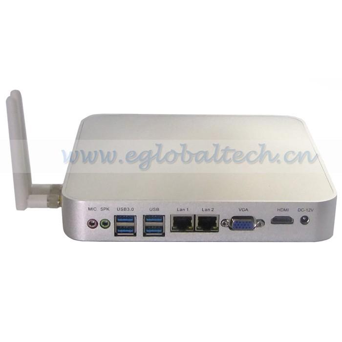 Thin Client Computer C1037U for Bluray Alloy Case HDMI HTPC XBMC 2 RJ45 Port Preinstalled Windows Server 2008 2 USB3.0 Mini PC(China (Mainland))