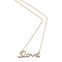 2014 Fashion Jewellery Gold Love Pendant  Necklace For Women 140318(N033)