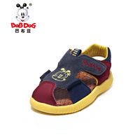Suede toe cap covering sandals 2013 BOB DOG children shoes baby sandals male child sandals leather sandals