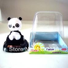 Free Shipping 12 Pcs Psr Lot  Head Swing Under Sunshine No Battery Solar Toy  Happy Dancing Novelty Car Decoration(China (Mainland))