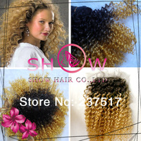 Queen Virgin hair products ,ombre hair extensions with closure, blonde peruvian virgin hair with closure mixed length 4 pcs lot