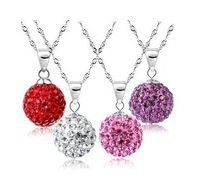 Necklace female brief paragraph collarbone Silver restoring ancient ways is han edition fall colored  ball necklace