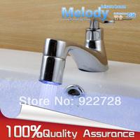 Me-FL001 Height quatily Brass Chrome Temperature Sensor 3 Color RGB  Shower LED Light Water Faucet Tap