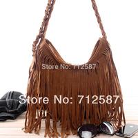 Free Shipping 2014 women's TASSEL CROSS BODY BAG handbag vintage fashion one shoulder messenger bag