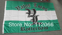 Free shipping One Piece 3ft x 5ft Sports Rotterdam Flag Polyester Rotterdam Flag in size 90cm x 150cm