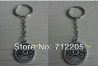 Free Shipping fashion 10pcs a lot sport  weight plate weightlifting  Key chain(rb15528)