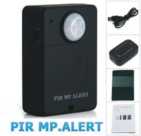 Free by DHL A9 Wireless PIR Sensor Motion Detector GSM Alarm System Alert Monitor Remote Control - Black and White
