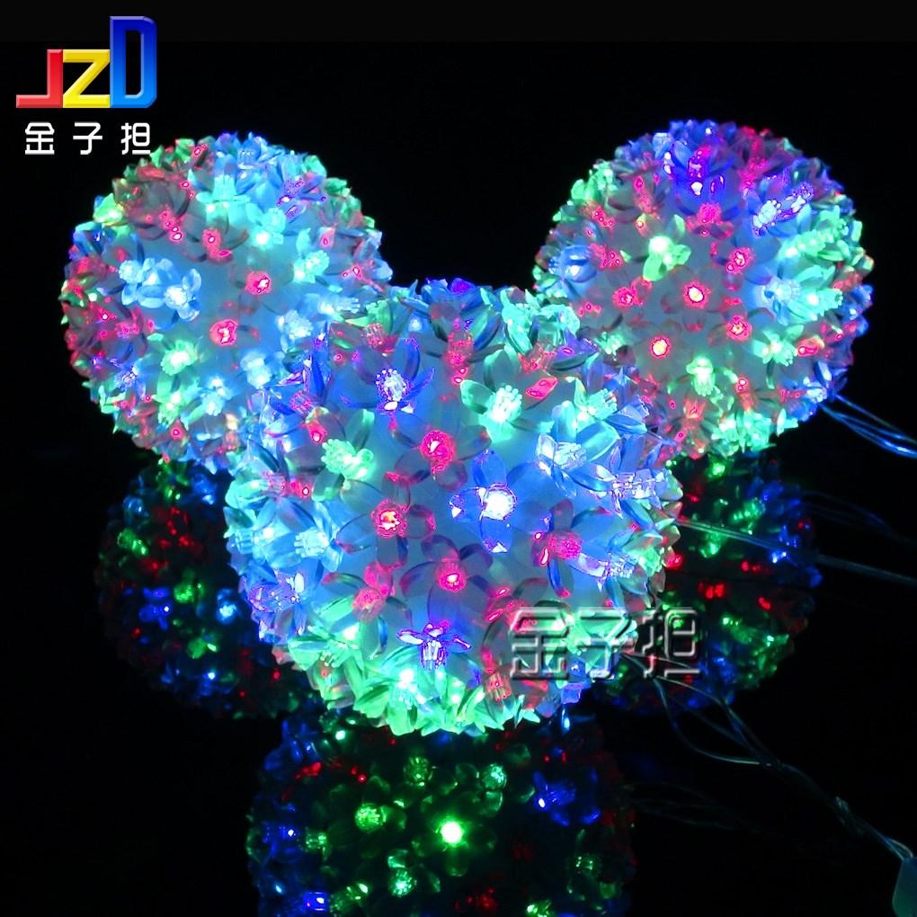 Led flower ball lamp globe lamp guelder lantern flasher lamp set christmas light ball signatureless first door decoration(China (Mainland))