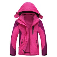 FREE SHIPPING two-piece set removable thicken fleece tank waterproof windproof sports travel breathable wear resistant jackets