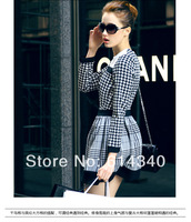 Wholesale European spring new 2014 big stars Plover women dress Long sleeve skirt of cultivate free shipping