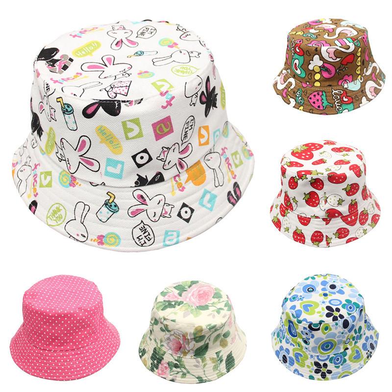 2014 Summer Unisex Kid Bucket hat Photography Hat Kids Sun Hat Floral  CapsTravel Necessity for Boys Girls Children Drop Shipping 7d92b90582f