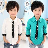 2014 New Arrival Special Offer Freeshipping Spring Tie of Paragraph Boys Clothing Baby Child T-shirt Long-sleeve Shirt Tx-2863