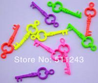 2.8cm*0.8cm Lovely Neon Color alloy key charm pendant