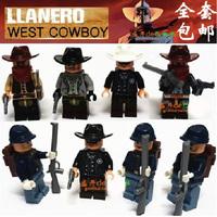 Lele Building Blocks Hot Toy West Cowboy LLanero Minifigures Construction Educational Bricks Toys for Children Compatible Blocks