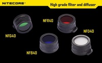 1pc Nitecore Colour Filter(40mm) NFR40 NFB40 NFG40 NFD40 suitable for EA4 P25 flashlight with head of 40mm + Free shipping