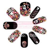 New technology nail stickers personality multicolor nail art patch Free Shipping