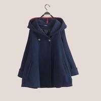 2014 women's fashion cloak outerwear fashion cloak woolen outerwear loose woolen overcoat