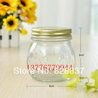 300ml  Quality  transparent glass bottle storage tank ling tank ,honey bottle pickles bottle F019
