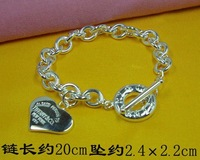 Free Shipping Brand New Fashion Sytel 925 Silver Charming Bracelet H240412