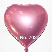 50pcs Promotion Toy wedding party Birthday Party Inflatable pearl pink heart Ballons Aluminum Foil Balloon