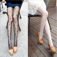 60pcs/lot Fashion White Small Bowknot Print Stockings Super Thin Sexy Socks Panty-hose/leggings Free Shipping