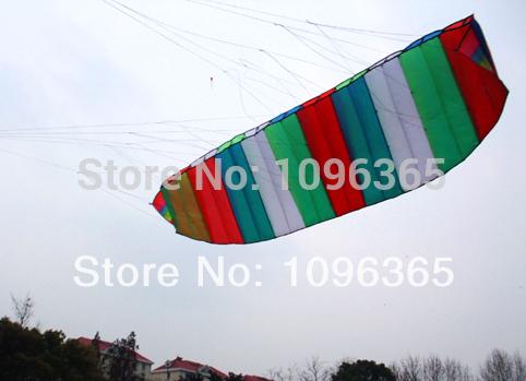 Dual Line Control Rainbow Colour-Parafoil Power Kite 3m +string Sport Power Singe Line kite(China (Mainland))