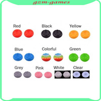 10pcs/lot Multi colors thumbstick joystick grips skin cover for PS4 XBOX 360 One WII Wii u free shipping