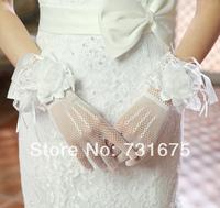 Long laciness dress gloves wedding gloves bridal gloves wedding dress accessories formal